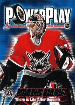2001-02 Pacific Adrenaline - Power Play #5 Martin Biron Front