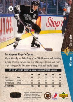1994-95 SP #54 Wayne Gretzky Back