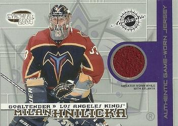 2003-04 Pacific Invincible - Jerseys #2 Milan Hnilicka Front