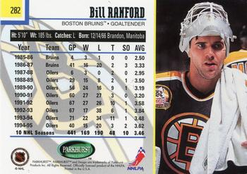 1995-96 Parkhurst International #282 Bill Ranford Back