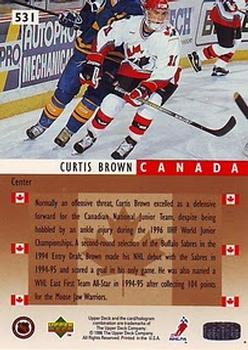 1995-96 Upper Deck #531 Curtis Brown Back