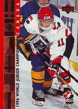 1995-96 Upper Deck #531 Curtis Brown Front