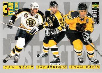 1996-97 Collector's Choice #310 Adam Oates / Ray Bourque / Cam Neely Front