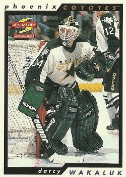 1996-97 Score #210 Darcy Wakaluk Front