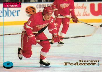 1996-97 SkyBox Impact #34 Sergei Fedorov Front