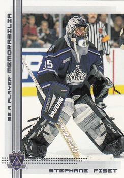 2000-01 Be a Player Memorabilia #159 Stephane Fiset Front