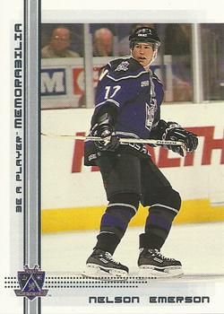 2000-01 Be a Player Memorabilia #337 Nelson Emerson Front