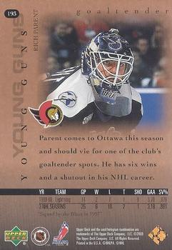 2000-01 Upper Deck #193 Rich Parent Back