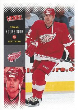 2000-01 Upper Deck Victory #89 Tomas Holmstrom Front