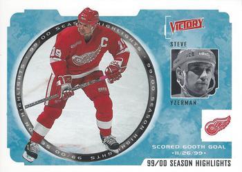 2000-01 Upper Deck Victory #249 Steve Yzerman Front
