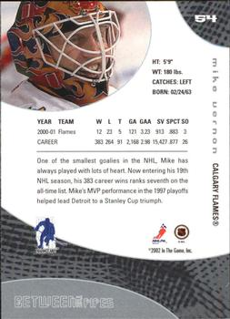 2001-02 Be a Player Between the Pipes #54 Mike Vernon Back