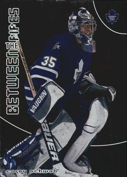 2001-02 Be a Player Between the Pipes #81 Corey Schwab Front