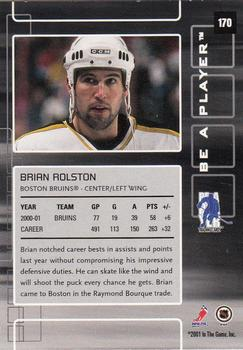 2001-02 Be a Player Memorabilia #170 Brian Rolston Back