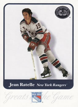 b13080d40 2001-02 Fleer Greats of the Game  27 Jean Ratelle