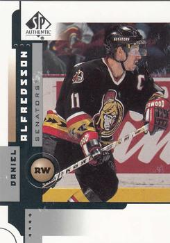 2001-02 SP Authentic #59 Daniel Alfredsson Front