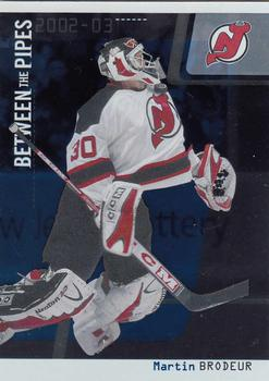 2002-03 Be a Player Between the Pipes #8 Martin Brodeur Front