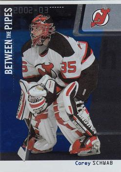 2002-03 Be a Player Between the Pipes #62 Corey Schwab Front
