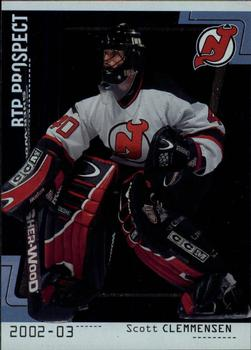2002-03 Be a Player Between the Pipes #88 Scott Clemmensen Front