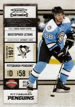 2010-11 Playoff Contenders #15 Kristopher Letang Front