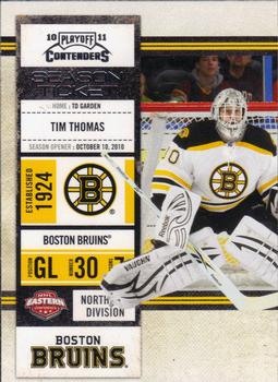 2010-11 Playoff Contenders #22 Tim Thomas Front