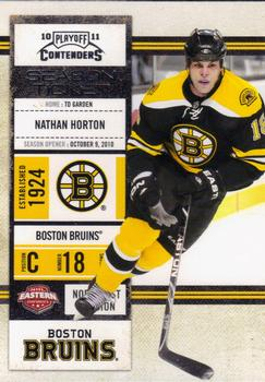 2010-11 Playoff Contenders #62 Nathan Horton Front