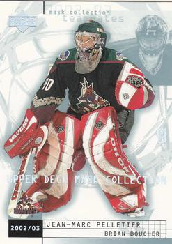 2002-03 Upper Deck Mask Collection #66 Jean-Marc Pelletier / Brian Boucher Front