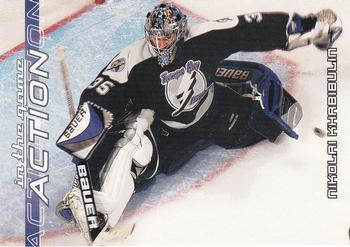 2003-04 In The Game Action #558 Nikolai Khabibulin Front