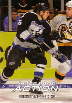 2003-04 In The Game Action #560 Nikita Alexeev Front