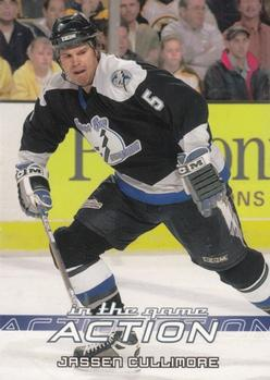 2003-04 In The Game Action #588 Jassen Cullimore Front