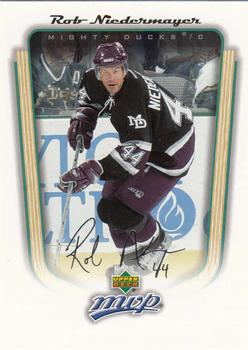 2005-06 Upper Deck MVP #4 Rob Niedermayer Front