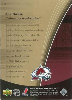 2005-06 Upper Deck PowerPlay #121 Joe Sakic Back