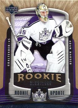2005-06 Upper Deck Rookie Update #138 Adam Hauser Front