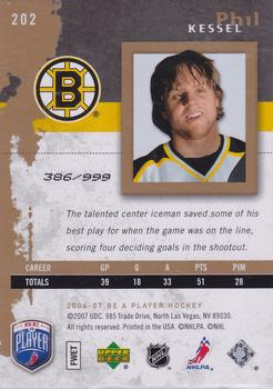 2006-07 Be A Player #202 Phil Kessel Back
