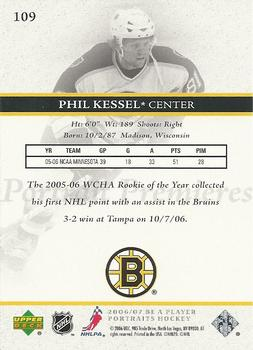 2006-07 Be A Player Portraits #109 Phil Kessel Back