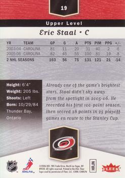 2006-07 Flair Showcase #19 Eric Staal Back