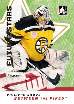 2006-07 In The Game Between The Pipes #43 Philippe Sauve Front