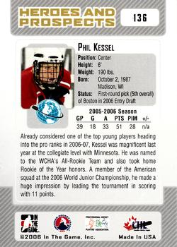 2006-07 In The Game Heroes and Prospects #136 Phil Kessel Back