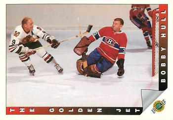 1991-92 Ultimate Original Six French #91 Bobby Hull The Curse of Muldoon is lifted  Front