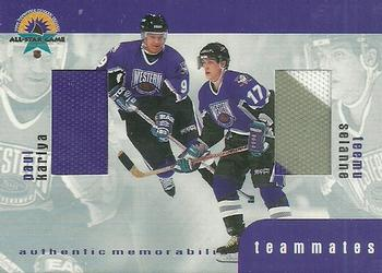 1999-00 Be a Player Memorabilia - Update Teammates Jerseys #TM12 Teemu Selanne / Paul Kariya Front