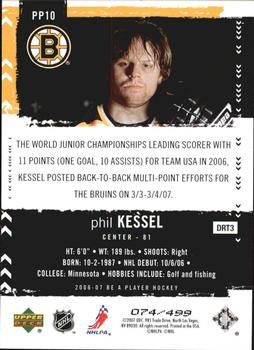 2006-07 Be A Player - Profiles #PP10 Phil Kessel Back