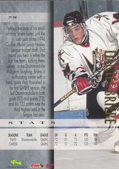 1995 Classic - Printer's Proofs #58 Daniel Briere Back