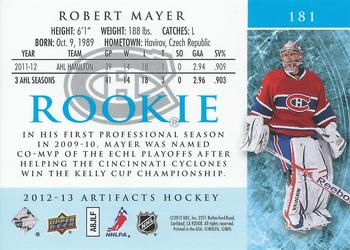 2012-13 Upper Deck Artifacts #181 Robert Mayer Back