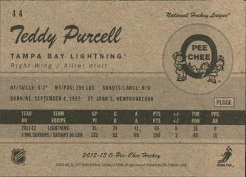 2012-13 O-Pee-Chee - Retro #44 Teddy Purcell Back