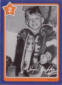 1982-83 Neilson's Gretzky #2 Handling the Puck Front