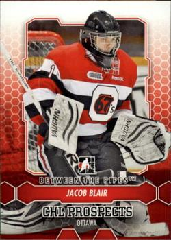 2012-13 In The Game Between The Pipes #43 Jacob Blair Front