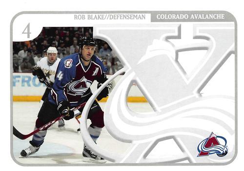 59d74fc3f 2006-07 Colorado Avalanche X Anniversary Postcards #NNO Rob Blake Front