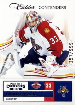 2011-12 Panini Rookie Anthology - Contenders Calder Contenders #277 Brian Foster Front