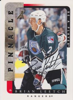 1996-97 Pinnacle Be a Player - Autographs #55 Brian Leetch Front