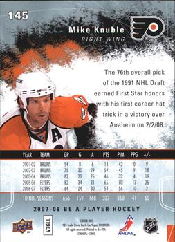 2007-08 Upper Deck Be a Player #145 Mike Knuble Back