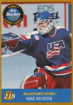 1995-96 Semic #218 Mike Richter Front